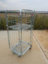 More details for 5 x roll cage container , rolling pallet, stillage , 4 sided