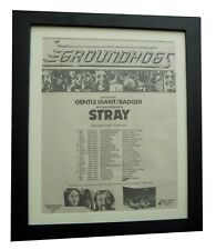 GROUNDHOGS+Hogwash+TOUR+POSTER+AD+RARE ORIGINAL 1972+FRAMED+EXPRESS GLOBAL SHIP