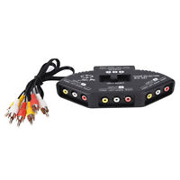 3-Way Audio Video AV RCA Switch Selector Box Composite Splitter with 3-RCA-CaLA