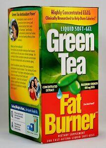 Green Tea Fat Burner 400mg EGCG Weight Loss Pills, Fat Burner 200 SoftGels