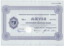 Einbecker brauhaus AG 100dm 1968 Einbeck