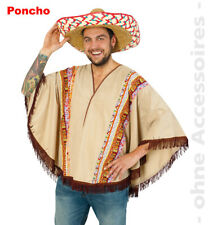 Western Wild West Poncho Indien Mexicain Homme Costume