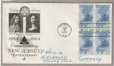 "Ersttagsbrief FDC USA ""Commemorating New Jersey Tercentenary"" 1964 Marken"