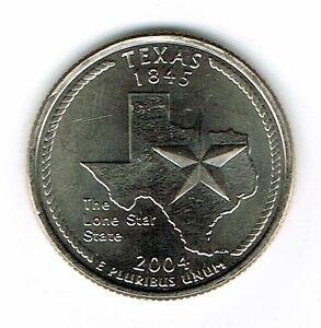 2004-P Philadelphia Brilliant Uncirculated Texas 28TH State Quarter Coin!