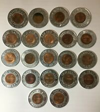 Encased cent lot of 21 - coin dealers, clubs, and shows, - Uncirculated