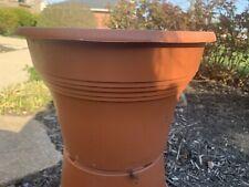 Lot 2 Plastic Terracotta-Look Flower Planter Pots Large