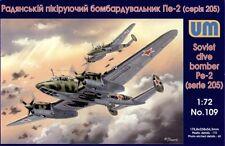 1/72 UM 109  - WWII Petlyakov Pe-2 Soviet dive bomber Plastic Model Kit
