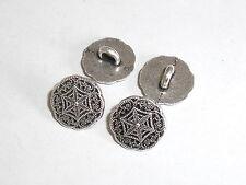 8 Stück Metallknöpfe Knopf  Knöpfe Ösenknopf  23 mm anthrazit NEUWARE #156#