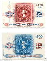 Chile 2014 #2519-20 Exposiciones Filatelicas EXFINA y EXFIL MNH
