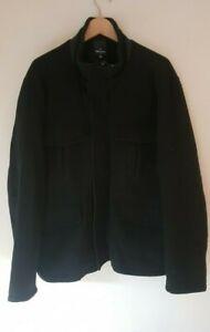 Daniel Hechter Wool Jacket Coat Black Size 3BM Large Mens Like New