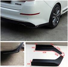 2Pcs Matte Black Car Rear Bumper Spoiler Lip Canard Diffuser Decorative Winglet