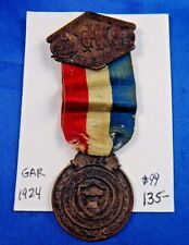 GAR 1924 58th National Encampment Delegate Civil War Veterans Medal Ribbon Badge