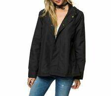 O'Neill Womens Water Resistant Black Rain Jacket Anorak Size 8 XS