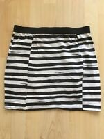 Black And White Stripe River Island Skirt Size 10