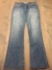 JOES Jeans Women's Blue Denim Flare Jeans Mid-Rise Stretch Size: 27W Made In USA