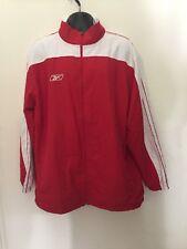 Reebok Vintage Men's Red/White Crossfit Warm up Jacket Nwot Size Xl