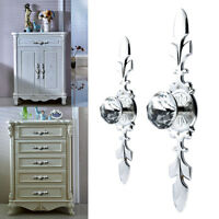 4pcs Modern Cabinet Wardrobe Cupboard Pull Handles Crystal Diamond Door Knob