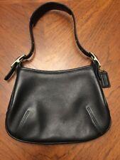 Vintage Genuine Leather Coach Black Shoulder Bag Clutch Purse
