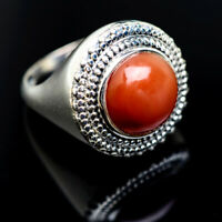 Large Peach Moonstone 925 Sterling Silver Ring Size 7.25 Ana Co Jewelry R975852F