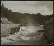Glass Magic Lantern Slide CANAL OR RIVER C1890 PHOTO SOUTH NORWAY NO73B