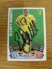 """2011/2012 AUTOGRAFO: Norwich City-Bennett, Elliott [firmato a mano """"TOPPS corrispondono a un"""