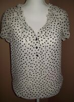 NO BOUNDARIES ~ WOMEN'S SIZE M (7-9)~  LIGHTWEIGHT PEASANT STYLE BLOUSE ~ EUC