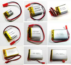 LiPo Akku 3,7V 1S 1C Lithium Polymer mit BMS PCB MP3 Dashcam Tablet Navi LiIon