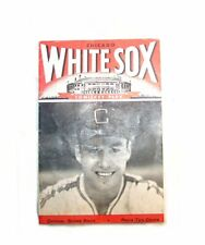 1947 Chicago White Sox Philadelphia Athletics Baseball Program EX Ticket Cub Ofr