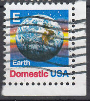 USA Briefmarke gestempelt E Earth Domestic Eckrand / 2420
