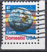 USA Briefmarke gestempelt E Earth Domestic Eckrand / 2420