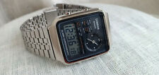 CONDOR CHRONOGRAPH DUAL TIME GMT ANALOGICO DIGITALE ACCIAIO 1970 NO SEIKO NOS !!