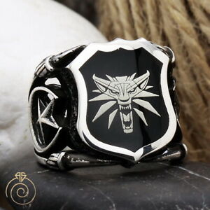 Witcher Geralt Wolf Signet Ring Axii Magical Custom Band Aard Igni Birthday Gift