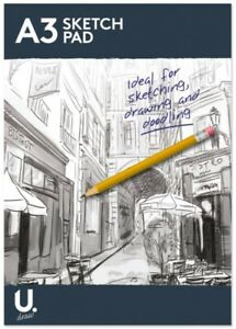 A4 or A3 Sketch Pad Book White Paper Artist Sketching Drawing Doodling Art Craft