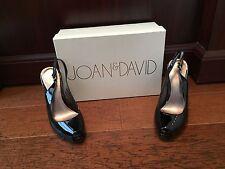 Joan & David Freeland Peep Toe Slingback Sandals Pumps Black 6M US