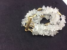 M & J Savitt  5 strand moonstone chip bracelet with gold beads