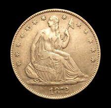 1872 S Seated Liberty Half Dollar - AU - Silver