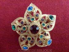 """Broche """"Anémone Etoile de Mer Fleur"""" dorée Multi style 3D - Bijoux pur Bestiaire"""
