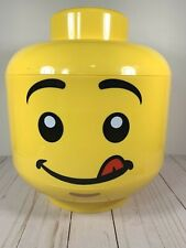 LEGO SORT & STORE Head LARGE Storage Container Boy Yellow Bins Handle Minifigure