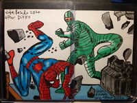 Spiderman & Scorpion  Puzzle Sketch Card Set of 2 by Artist Nate Rosado