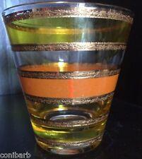 2 Vintage CULVER LTD Ornate Gold Stripes Tumbler Glasses 1940' 50's 60's ?