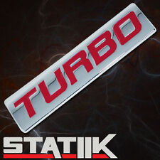NEW TURBO METAL BADGE/EMBLEM DECAL LOGO FOR HOOD TRUNK CAR BUMPER FENDER RED