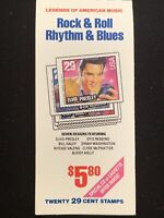 Rock & Roll Rhythm & Blues Booklet Of Stamps $5.80 Face Value (20)29 Cent Stamps