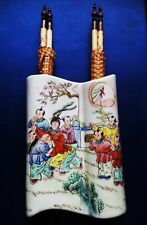 Chinese the palanquin internal hanging Zitan and bone chopsticks (轿子内用筷筒)
