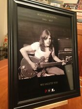 2 BIG 10x13 FRAMED AC/DC MALCOLM YOUNG 1953-2017 ACDC LP CD TRIBUTE PROMO ADS