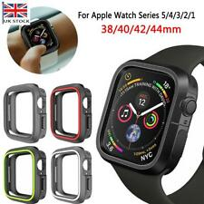 TPU Silicone Bumper Case Cover For Apple Watch Series 5 4 3 2 1 iWatch Protector