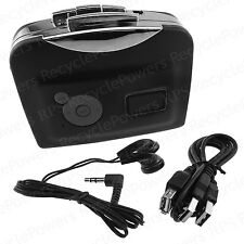 Portable Cassette Tape to mp3 Converter recorder PC USB Sound Audio Music Player