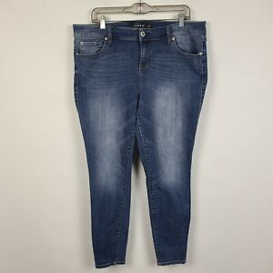 Torrid Premium Ultra Skinny Womens Dark Wash Jeans Plus Size 18