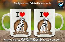 I Love Dalmatian Dog Lover Coffee Personalised Custom Mug Cute Funny Lovely Gift