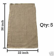 5 Burlap Sacks- Potato Sack Race Bags, Sandbags, Gunny Sack 22x36