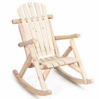 Rocking Chair Wagon Wheel Rocker Burnt Finish Fir Wood